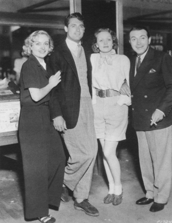 Cary Grant with Carole Lombard, Marlene Dietrich, and Richard Ba