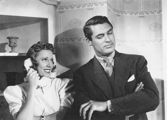 Cary Grant and Irene Dunne in The Awful Truth, 1937