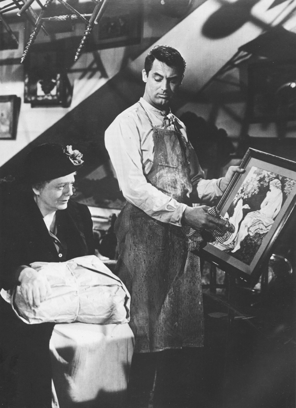 Cary Grant and Ethel Barrymore in None But the Lonely Heart, 194