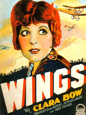 Wings Clara Bow Gary Cooper 1927 Best Picture Vintage Movie Poster Reproduction