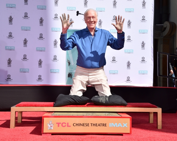 2015 TCM Classic Film Festival - Christopher Plummer Hand and Footprint Ceremony